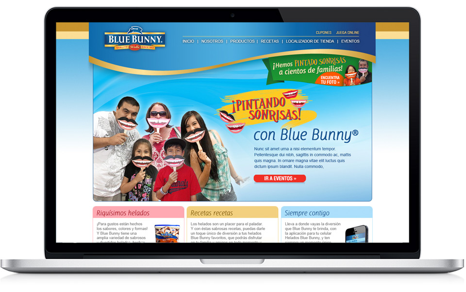 Blue Bunny Landing Page